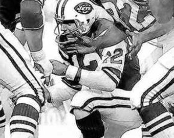 Great Joe Namath New York Jets Huddle Art Print LE 50