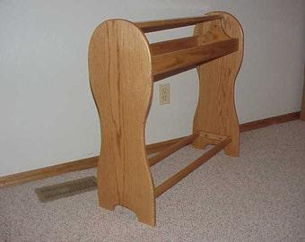 Round Oak Saddle Rack- Honey Oak Stain