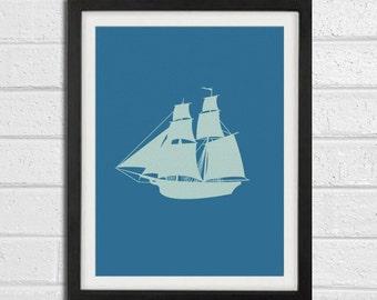 Pirate Ship - Wall Art Home Decor 8x10