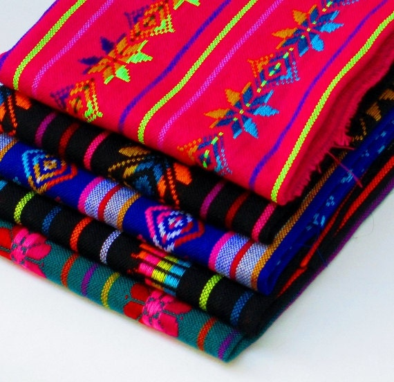 Aztec Fabric Mexican Pattern Fabric Colorful Tribal Fabric