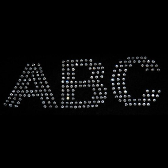 Inch Rhinestone Iron On Letters