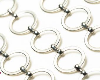 Craft Finding - 1 meter Bronze Circle Round Shape Chain of Unfinished Link ( Diameter 14mm ) for Necklace Bracelet Belt