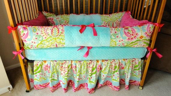 Custom Baby Girl Bedding Kumari Garden