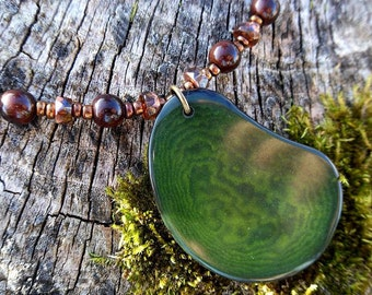 Tagua FERN NECKLACE