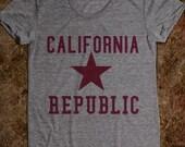items similar to california republic star tee on etsy
