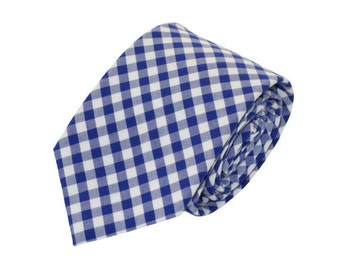 Men's Blue Gingham Tie