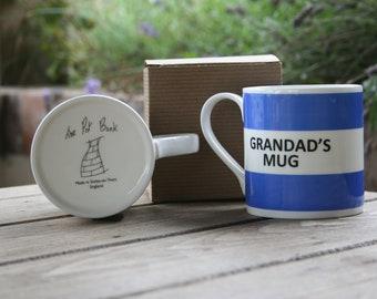 Grandad's Mug Hoop Mug (pictured in dark blue)