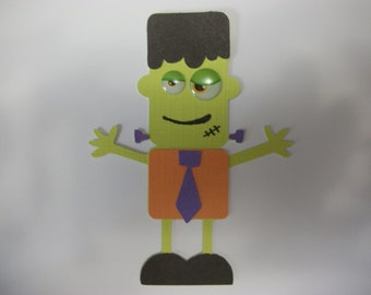 Cricut Mini Monsters Halloween Frankenstein Die Cut Paper Piecing Scrapbooking