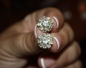 12mm Metal Rhinestone Embellishment/Flatback earrings