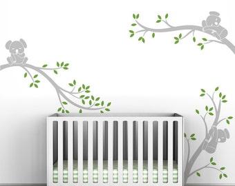 Wall Decal Tree Baby Nursery Decor Gray Tree Wall Decal - Koala Tree Branches by LittleLion Studio