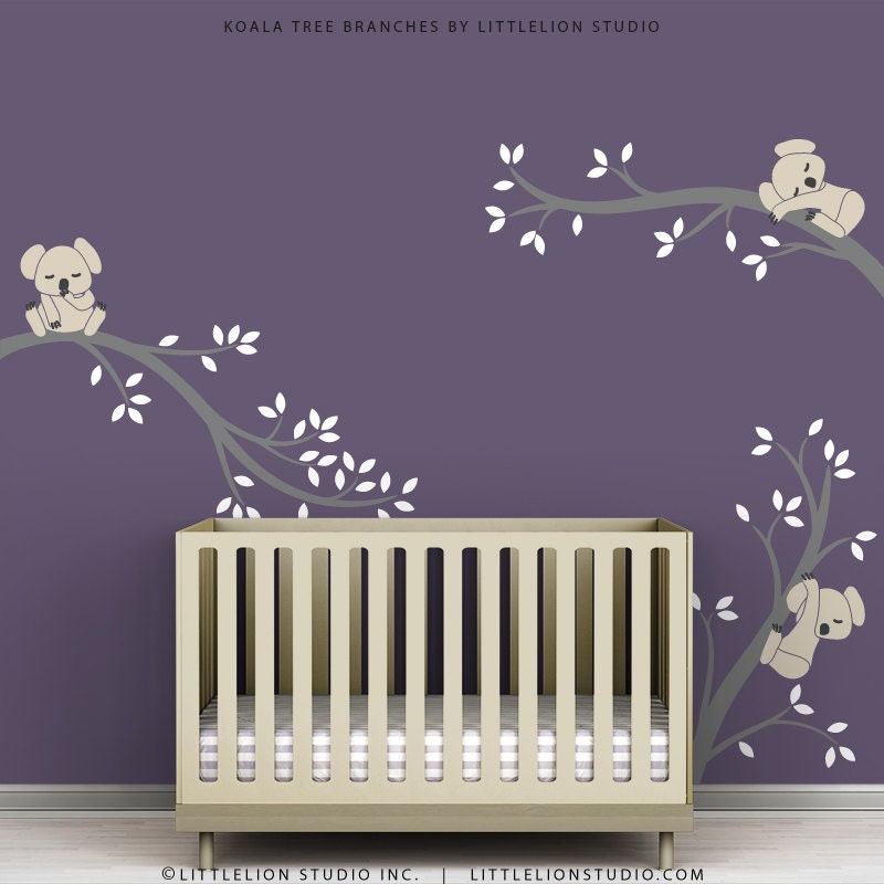 Kids Wall Decals Tree Branches Koala Baby Girl By