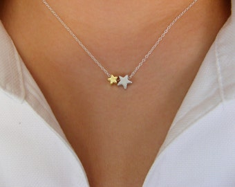 You are my Star II ... - Dainty Stars Necklace - Sterling Silver Necklace with Stars - star necklace - minimalist
