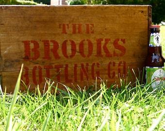 Brooks Bottling Co. Vintage Crate- Custom Copper Cooler