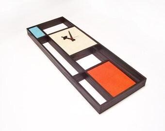 Mid Century Modern Art Mondrian Clock Eames Era Tiki 60's Retro Danish Modern Nelson
