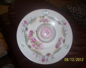 Pink Rose Box Plate Flower