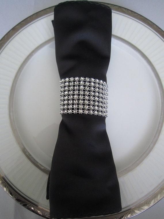 Silver Christmas Napkin Rings