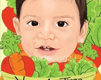 Personalized Vegetable Book, Eat you Veggies, Customized book for Children, Foam Book, Illustrated Children Books, Toddler Books