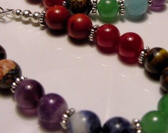 Chakra Bracelet, 7 Semi-Precious Stones, Chakra Balance, Meridans. Energy Vortex, Chakra Jewelry, Reiki Jewelry, Jewellery, FREE SHIPPING