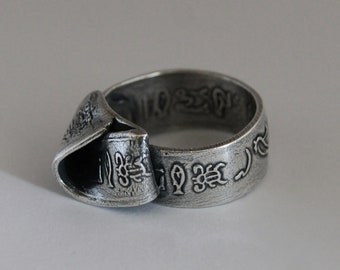 Ring Silver Hieroglyph R122