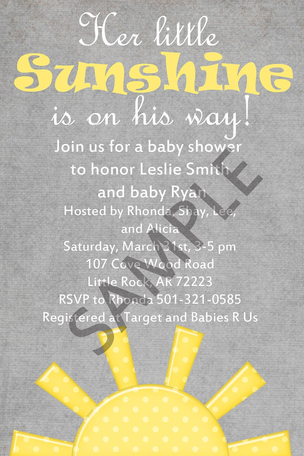 items similar to you are my sunshine baby shower invitation 4x6