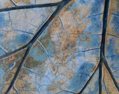 Stoneware leaf design trivit