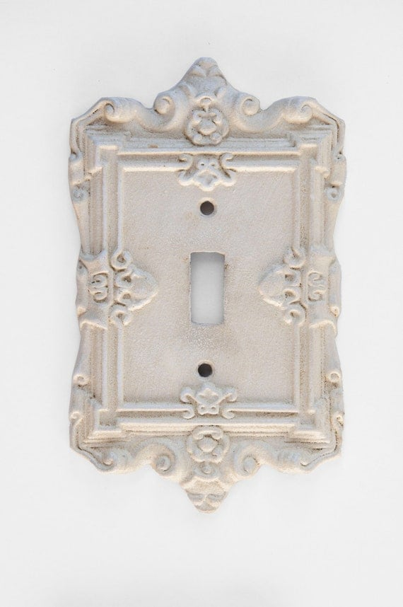 Cast Iron Light Switch Plate Shabby Chic Baroque