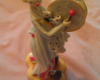 Collectible Ceramic Herco Clown Resin Circus Figurine with Drum