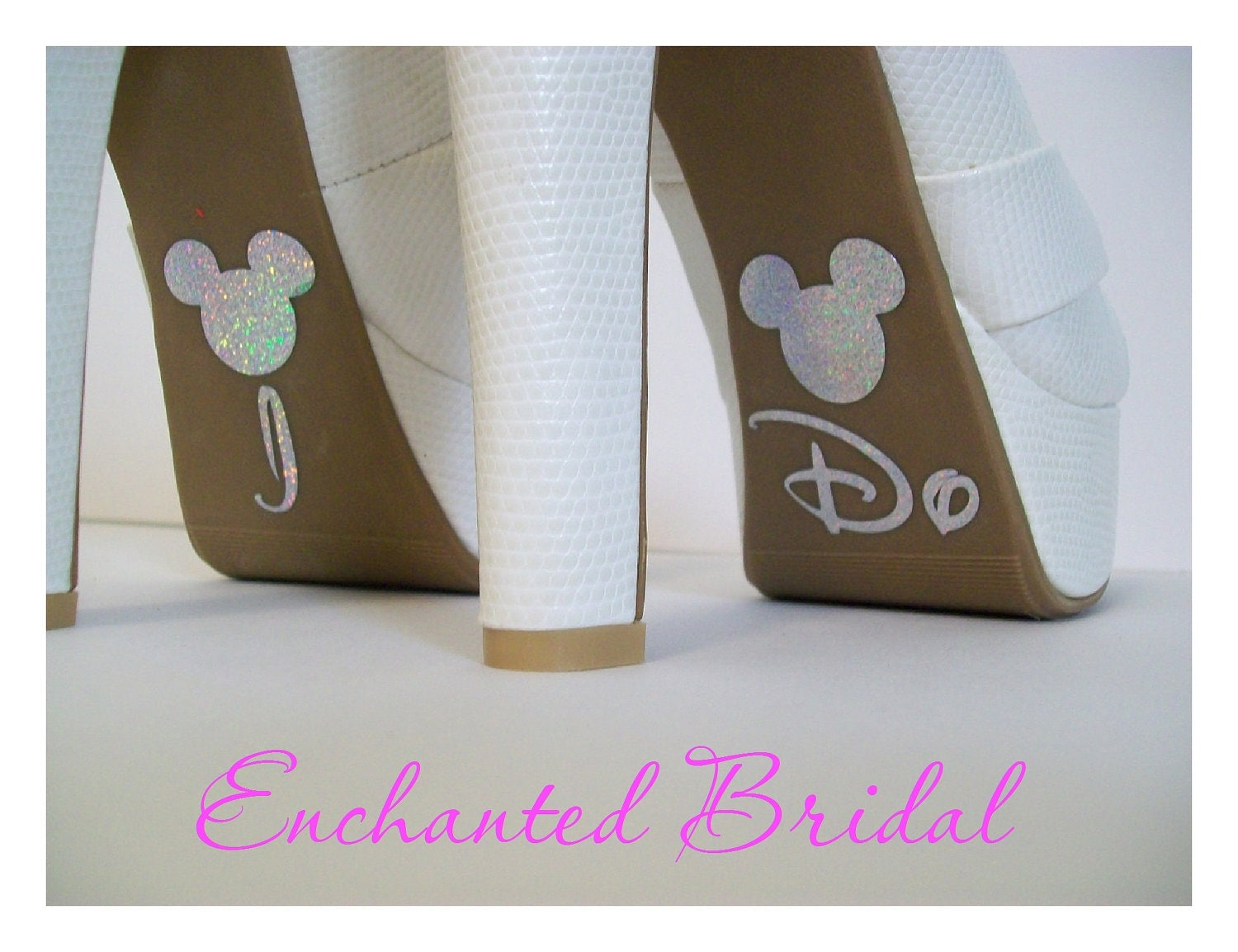 Disney Inspired I Do Shoe Stickers You Pick Color Sparkly