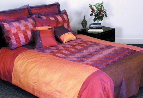 Thai Silk Duvet Cover/Bedspread & Pillow Shams, One-of-a-Kind