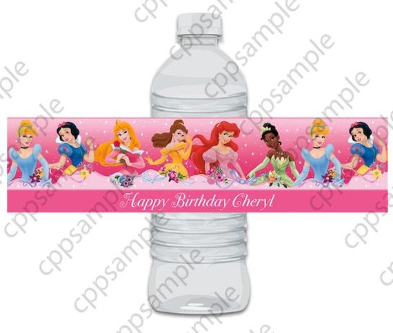 Princess Water Bottle Label