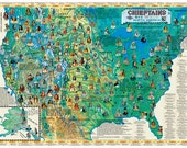 Chieftains of North America Wall Map Poster