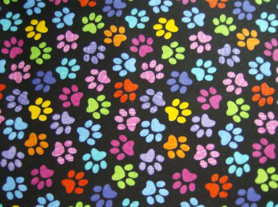 Sale Dog Paw Prints 100 Cotton Fabric Timeless Treasures