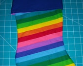 Personalized Rainbow Christmas Stocking