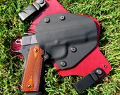 Custom made Inside waistband concealed holster made from leather and kydex