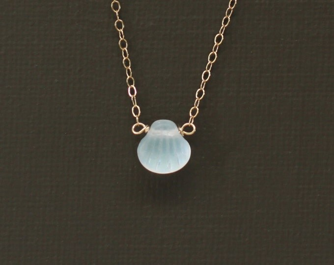 Tiny Opalescent Shell Necklace