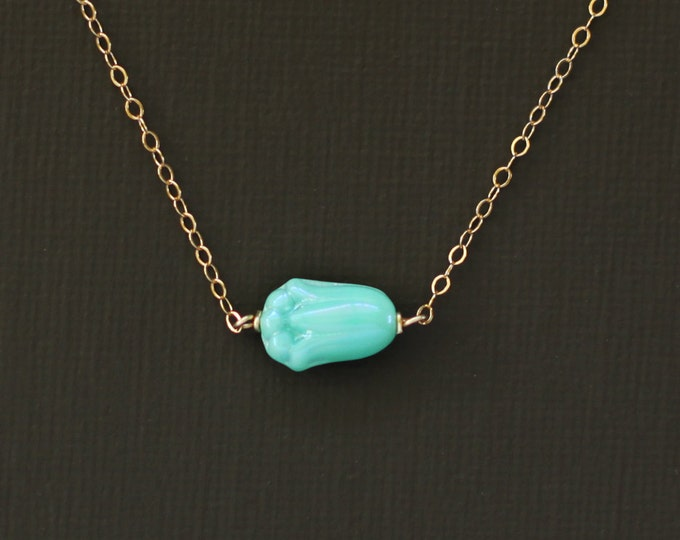 Mint Pikake Necklace - 14K Gold Filled Chain