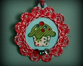 CIJ, Christmasinjuly, Christmas In July, Cupcake Jewel Embellished Ornament, Christmas Ornament