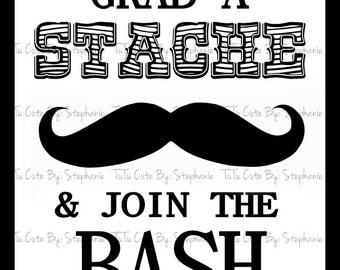 Grab A Stache & Join The Bash Poster