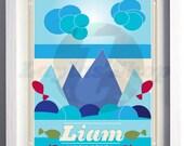 Personalized Mountain Artwork