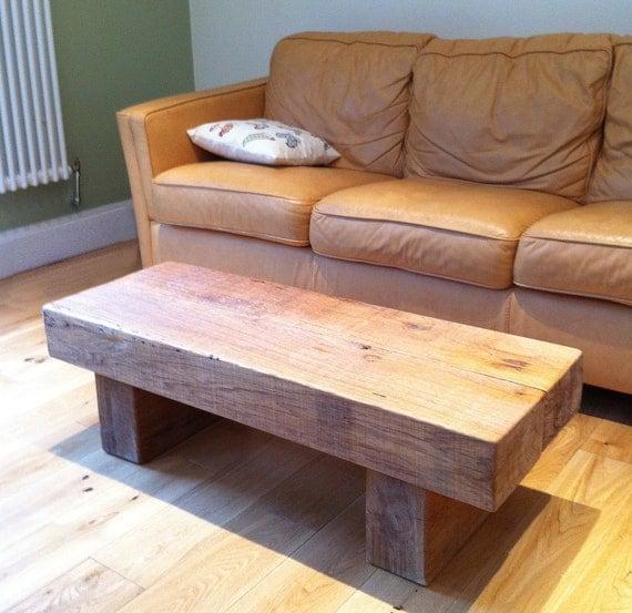 Items similar to Chunky Oak Railway Sleeper Coffee Table