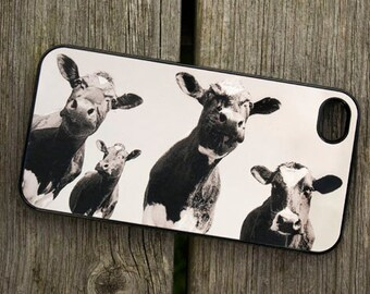 iPhone Cover(all models) - Four cows - smartphone -  Samsung Galaxy and Galaxy mini, LG,HTC and others - Mobile - Animal - Farm