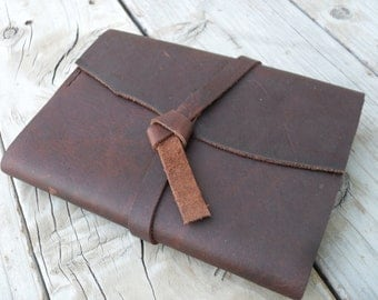 "Hand stitched refillable leather journal - ""The Monk"""