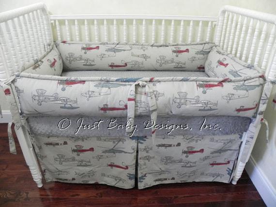 Custom Crib Bedding Set Logan Vintage By Babybeddingbyjbd