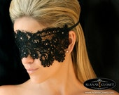 Black Lace Eye Veil Mask- Aria