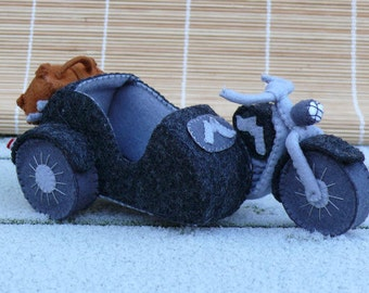 Motorcycle with sidecar - DIY kit