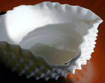 Milk Glass Hobnail Square Dish White Milk Glass