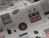8bit Memories - One Yard of Nintendo themed Kona Cotton Fabric