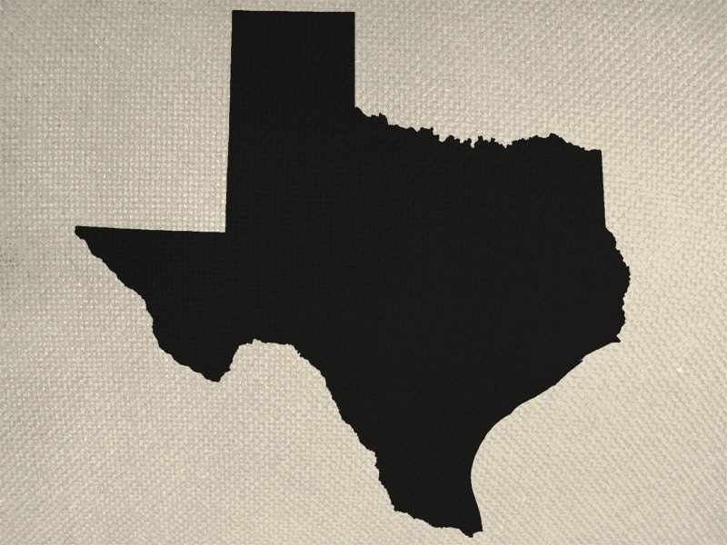 Silhouette Texas State of Texas Style Silhouette Graphic Iron by