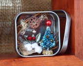 Mini Christmas in a tin can (bronze ornaments)