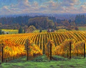 8x10 Print on paper of Harvest Gold originally painted  in oils by Michael Orwick